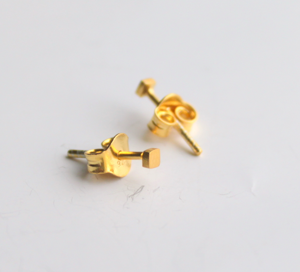 earring ball gold dijr solid zoom post il au simple round listing stud fullxfull